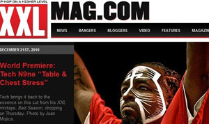 FRONT PAGE: My photo of Tech N9ne on XXLMAG.com