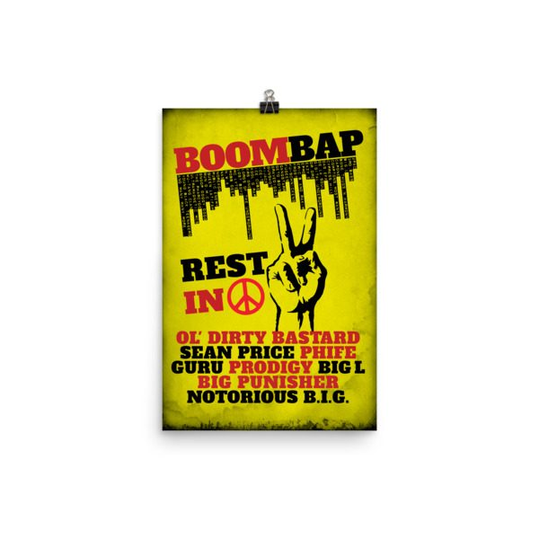 Ode to The Boom Bap Era Wall Art Poster || (Various Sizes) | www ...