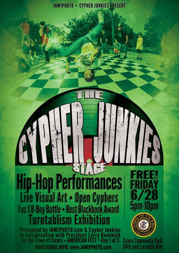 """THE CYPHER JUNKIES"" stage @ AMERICAN FEST [EVENT] 6/28/13"